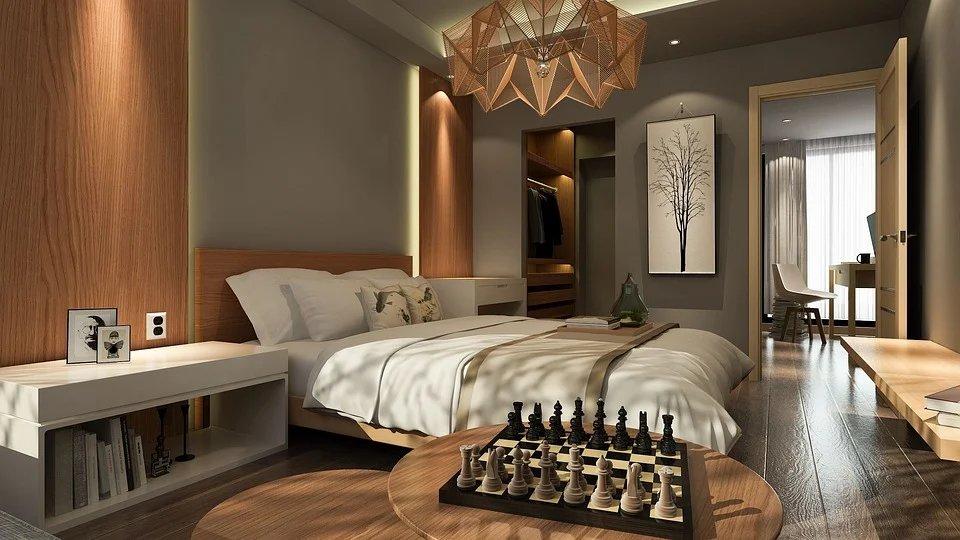 ciekawe meble sypialnia salon